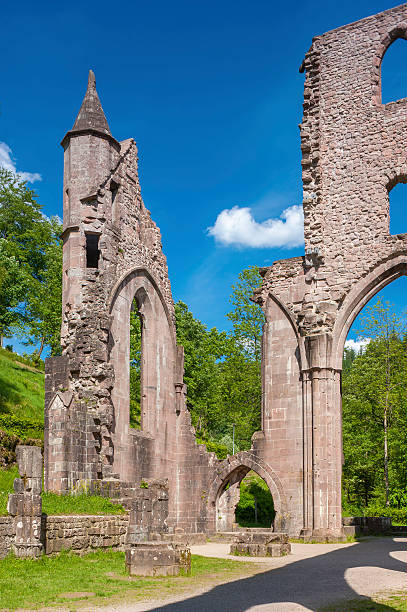 The ruine of the monastery All Saints Allerheiligen in Oppenau Oppenau, Germany - May 20, 2009: The ruine of the monastery All Saints Allerheiligen in Oppenau. Black Forest, Baden-Wurttemberg, Germany, Europe ruine stock pictures, royalty-free photos & images