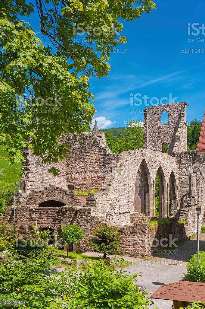 The ruine of the monastery All Saints Allerheiligen in Oppenau stock photo
