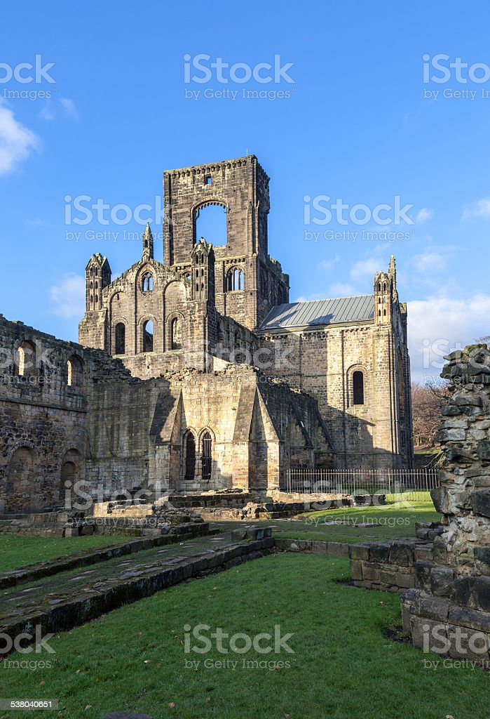 The ruined Kirkstall Abbey stock photo