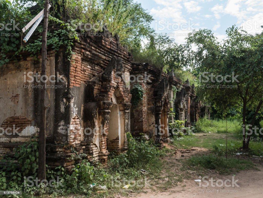 The ruinous stupas at Maha Sandar Mahi Pagoda, Amarapura, Myanmar stock photo
