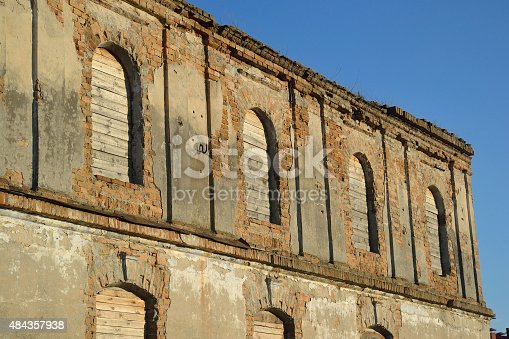 istock The ruins of a synagogue in Stolin. 484357938