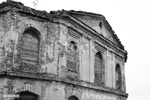 istock The ruins of a synagogue in Stolin. 487000808