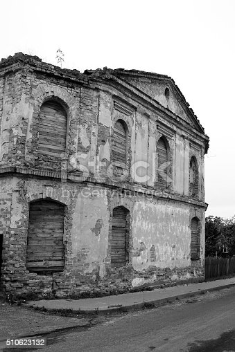 istock The ruins of a synagogue in Stolin. 510623132