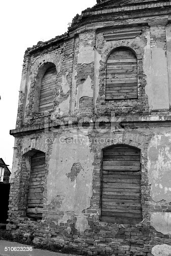 istock The ruins of a synagogue in Stolin. 510623236