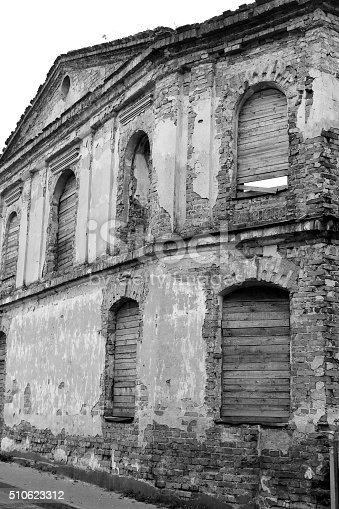 istock The ruins of a synagogue in Stolin. 510623312