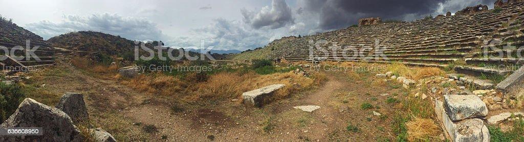 The ruins of Aphrodisias Arena stock photo