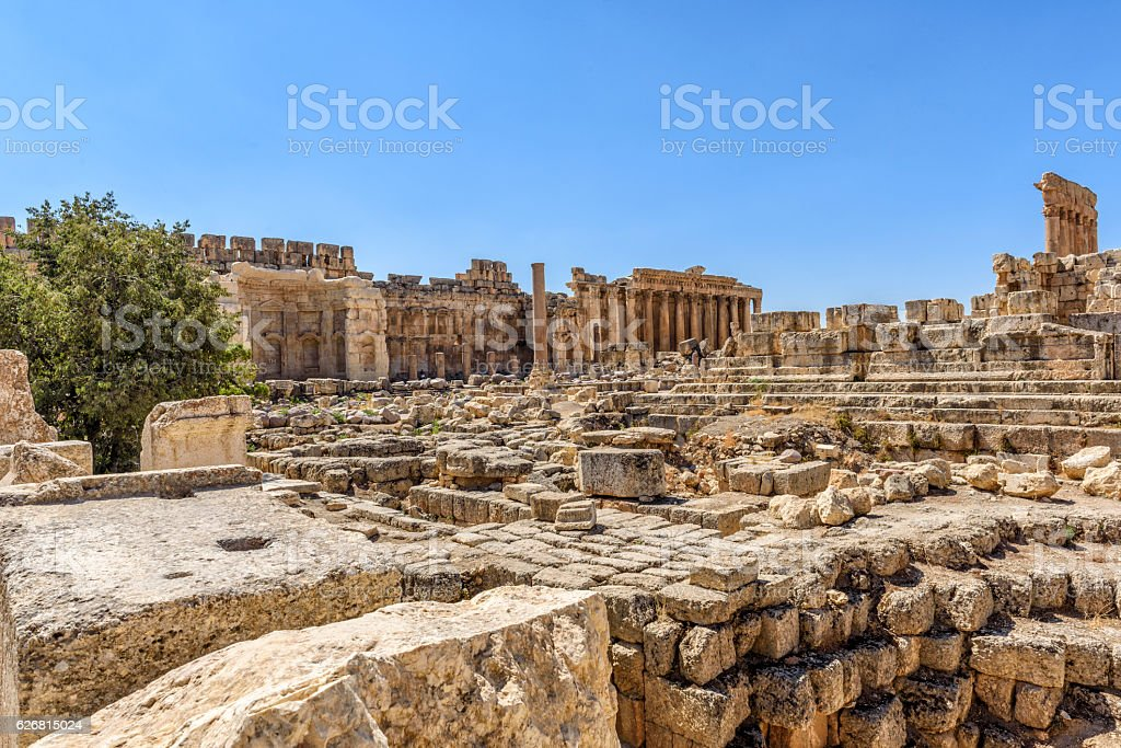 The ruins of Baalbek in Lebanon stock photo