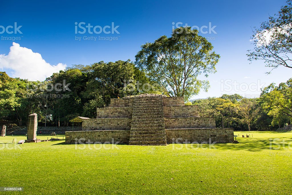 The ruins of Copan in Honduras, Central America. stock photo