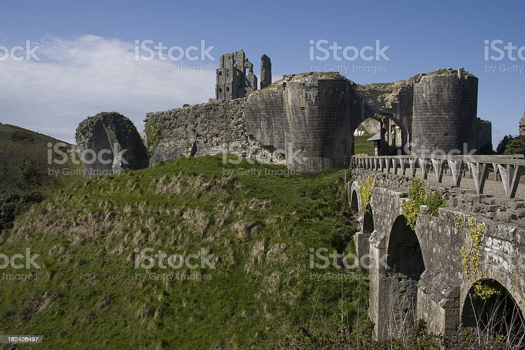 The ruins of Corfe Castle in Dorset The ruins of Corfe Castle in DorsetRelated images: Ancient Stock Photo