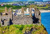 Looking towards Fairhead, a spectacular headland on the North Antrim coast of Northern Ireland.