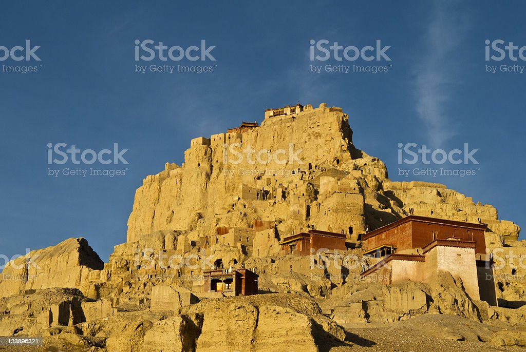 The Ruins of Guge Kingdom stock photo