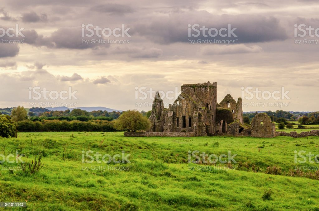 The Ruins of Hore Abbey near the Rock of Cashel stock photo