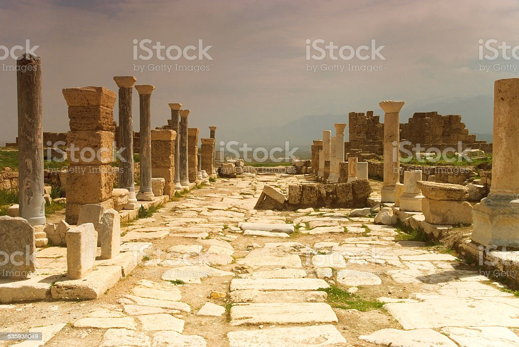 The Ruins of Laodicea in Turkey Denizli stock photo