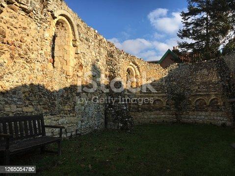 Church ruins of the leper church Dunwich Suffolk