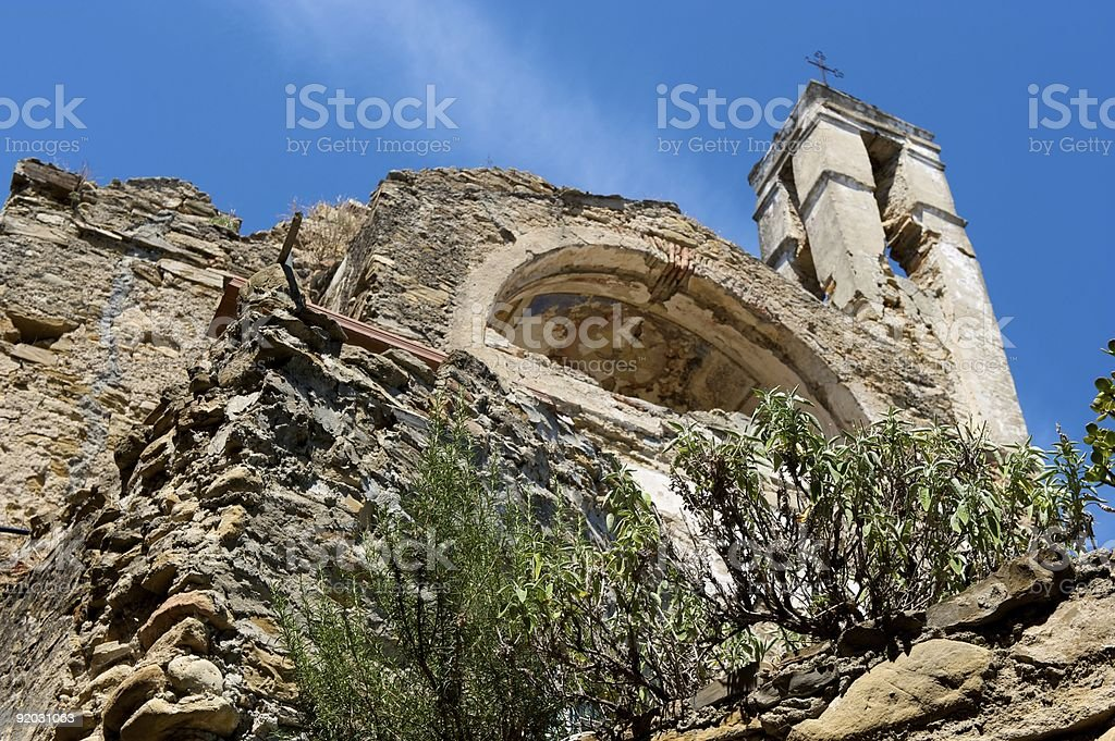 The ruins of old church royalty-free stock photo