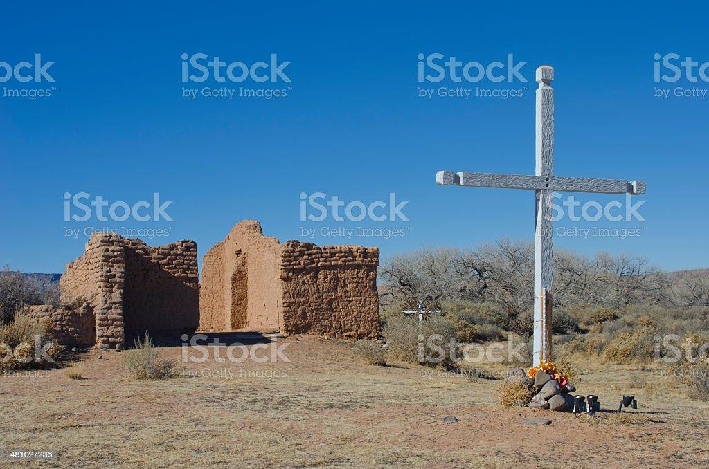 The Ruins of Santa Rosa de Lima, New Mexico stock photo