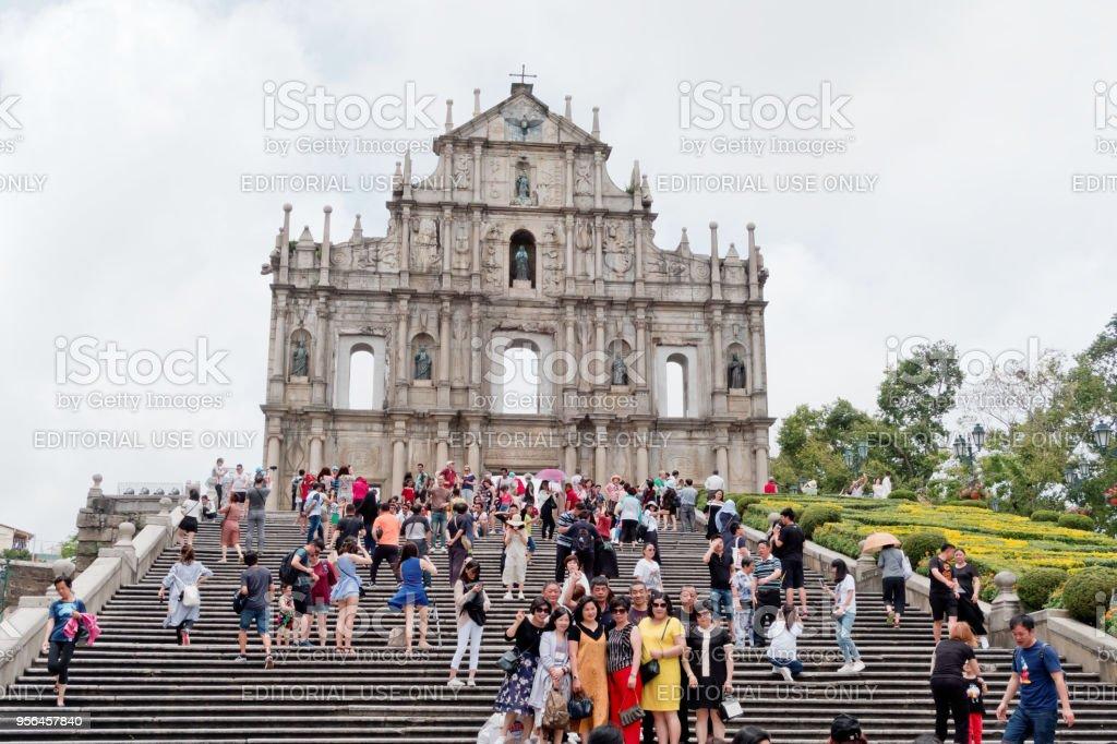 The Ruins of St. Paul's in Macau stock photo