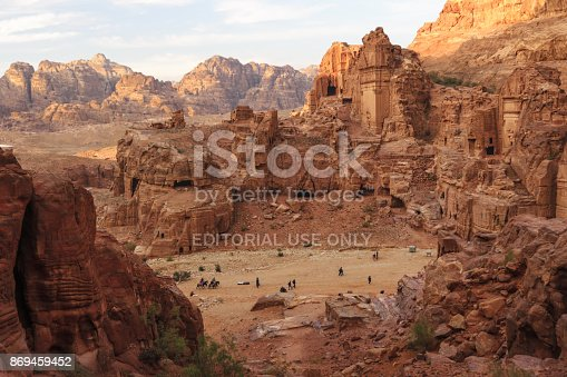 istock The ruins of the ancient civilisation in Petra 869459452