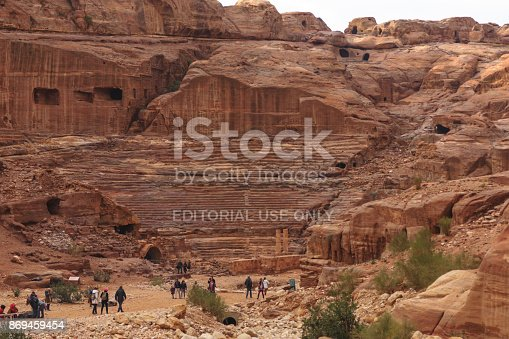 istock The ruins of the ancient civilisation in Petra 869459454