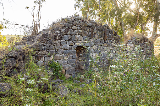istock The ruins  of the fortress wall of the Ateret fortress - Metzad Ateret - Qasr Atara - located next to the ford of the Jacob daughters on the Jordan River, in northern Israel 1224588745