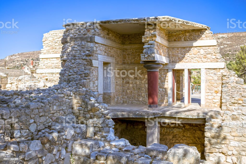 The ruins of the palace of Knossos 免版稅 stock photo