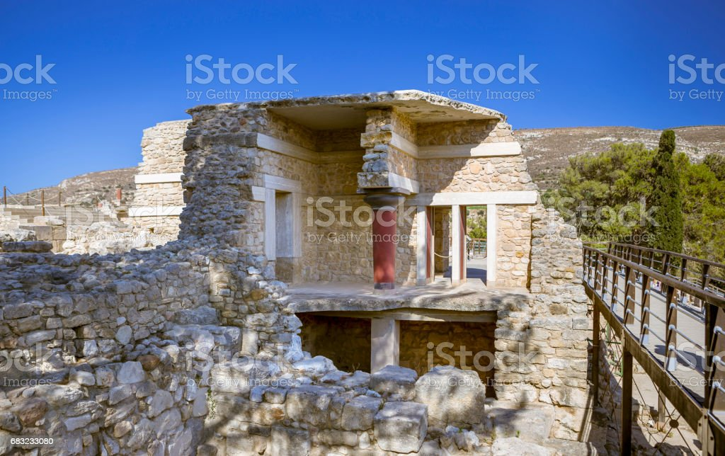 The ruins of the palace of Knossos Lizenzfreies stock-foto
