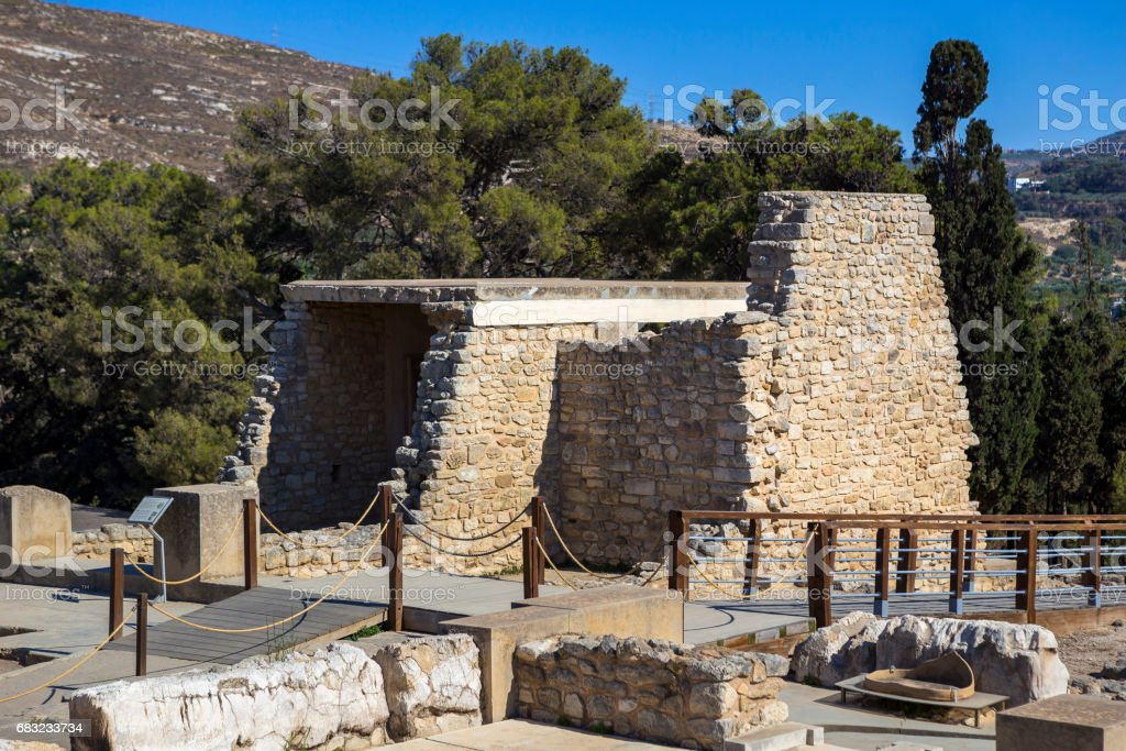 The ruins of the palace of Knossos royalty-free 스톡 사진