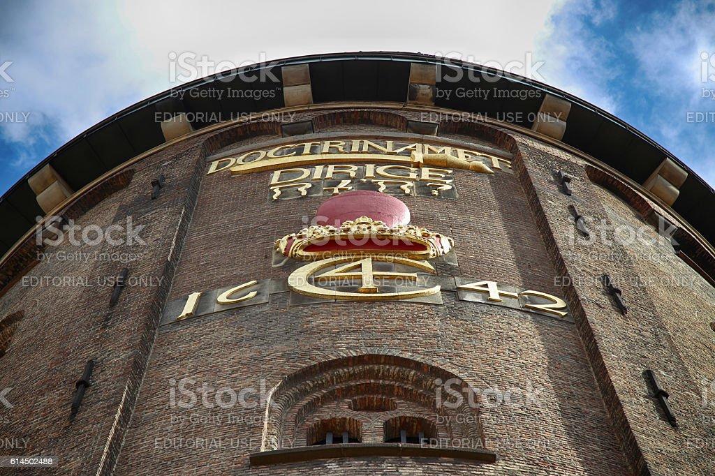 The Rundetaarn (Round Tower) in central Copenhagen, Denmark stock photo