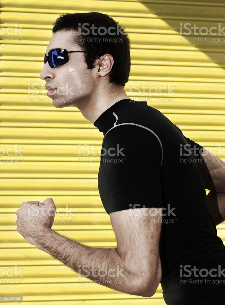 The runner. royalty-free stock photo