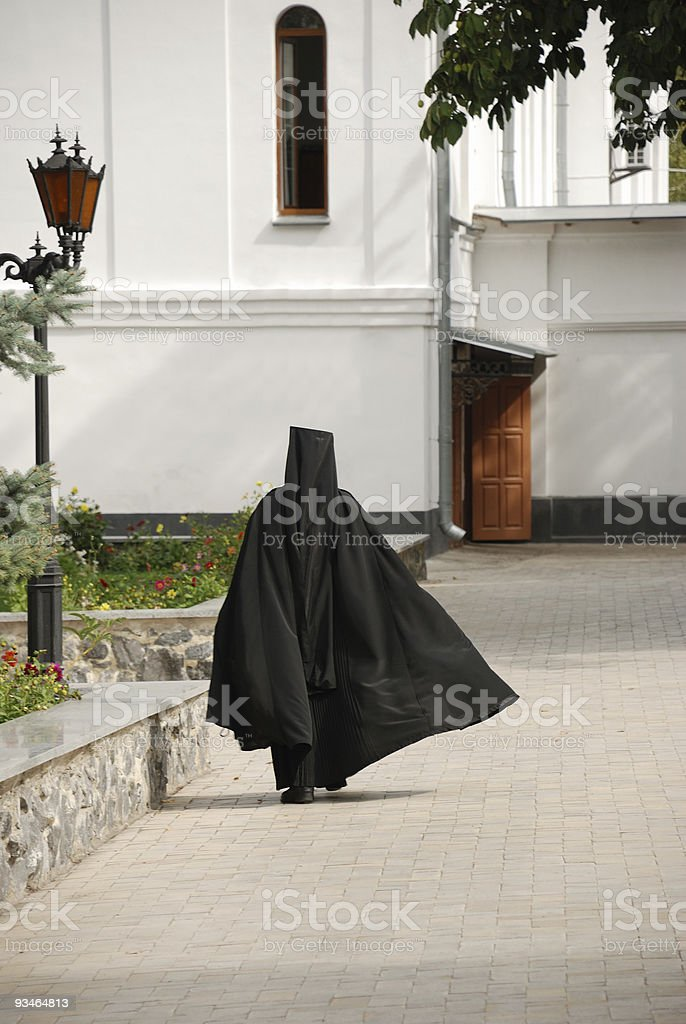 The running monk royalty-free stock photo