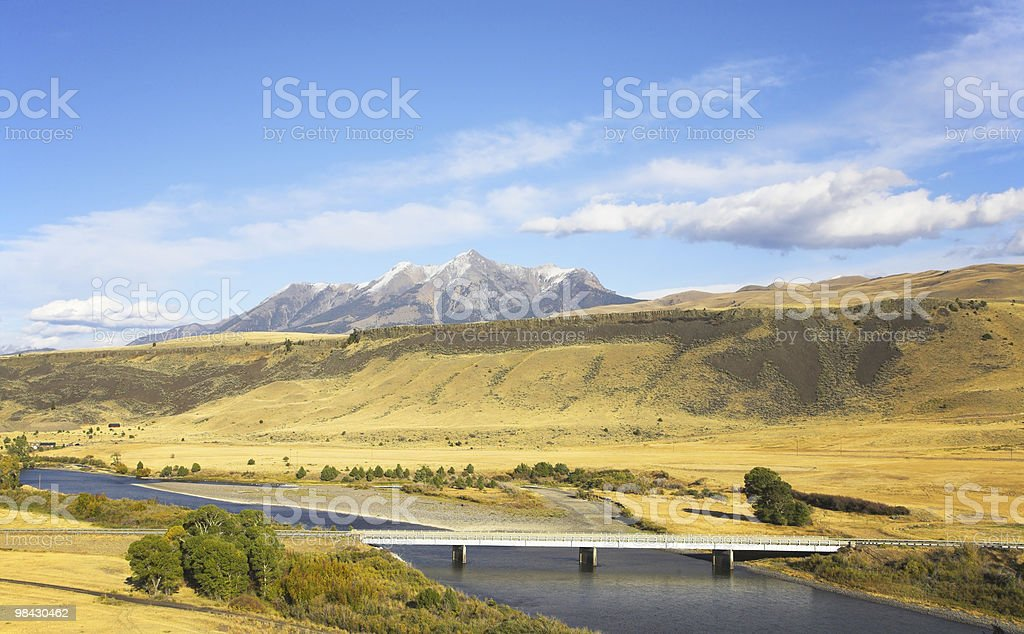 The rural small bridge. royalty-free stock photo