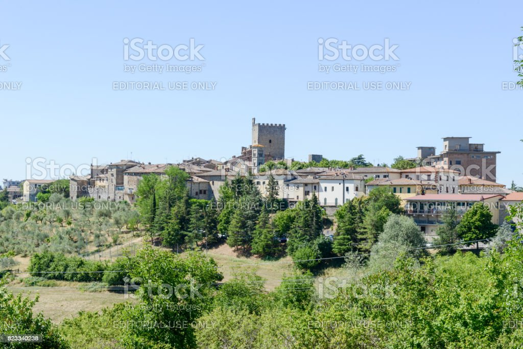 The rural village of Castellina in Chianti on Tuscany, Italy stock photo