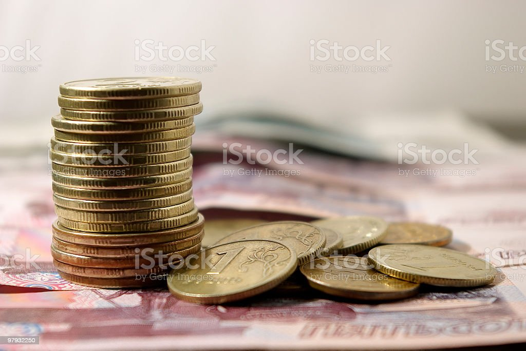 The Russian money. royalty-free stock photo