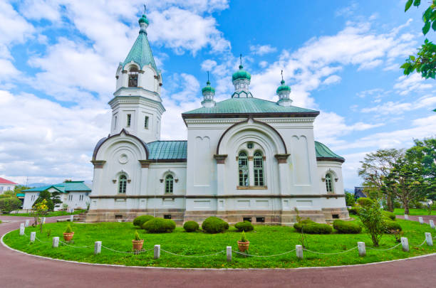 The Russian Orthodox Church in Hakodate stock photo