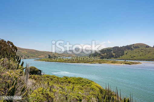 The Russian River is a southward-flowing river of Sonoma and Mendocino counties in Northern California. North of Bodega Bay
