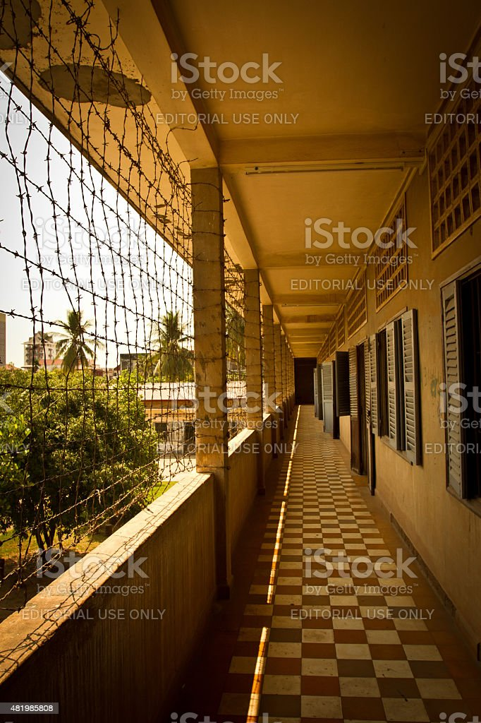 The S21 cocentration camp in Phnom Phen, Cambodia stock photo