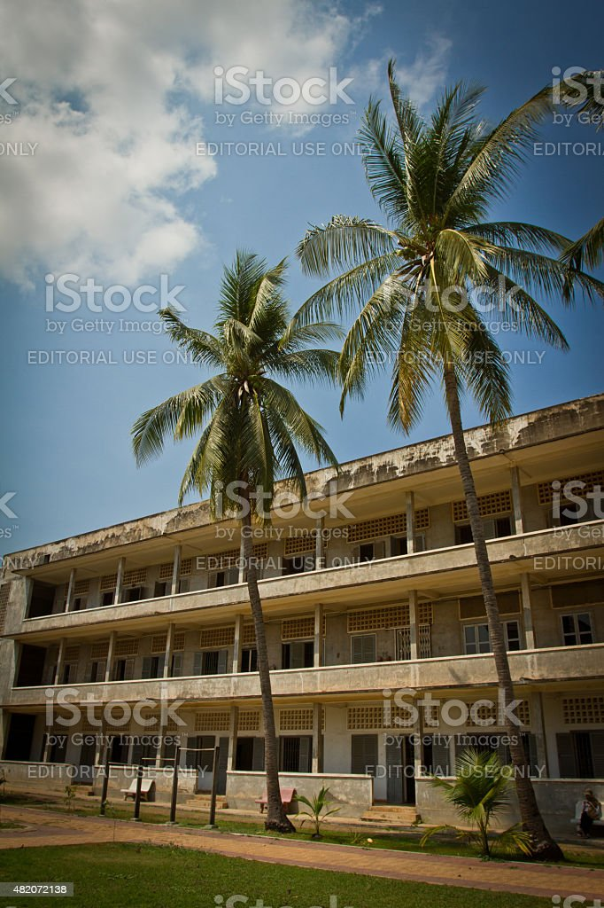 The S21 concentration camp in Phnom Phen, Cambodia stock photo