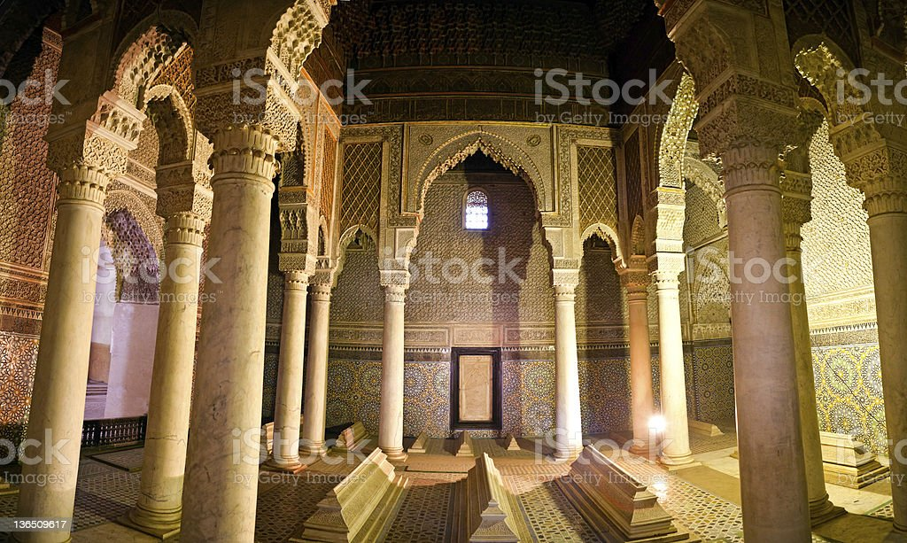 The Saadian tombs in Marrakech stock photo