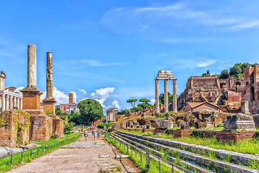 The Sacred Road (The Via Sacra), the main road of the Roman forum