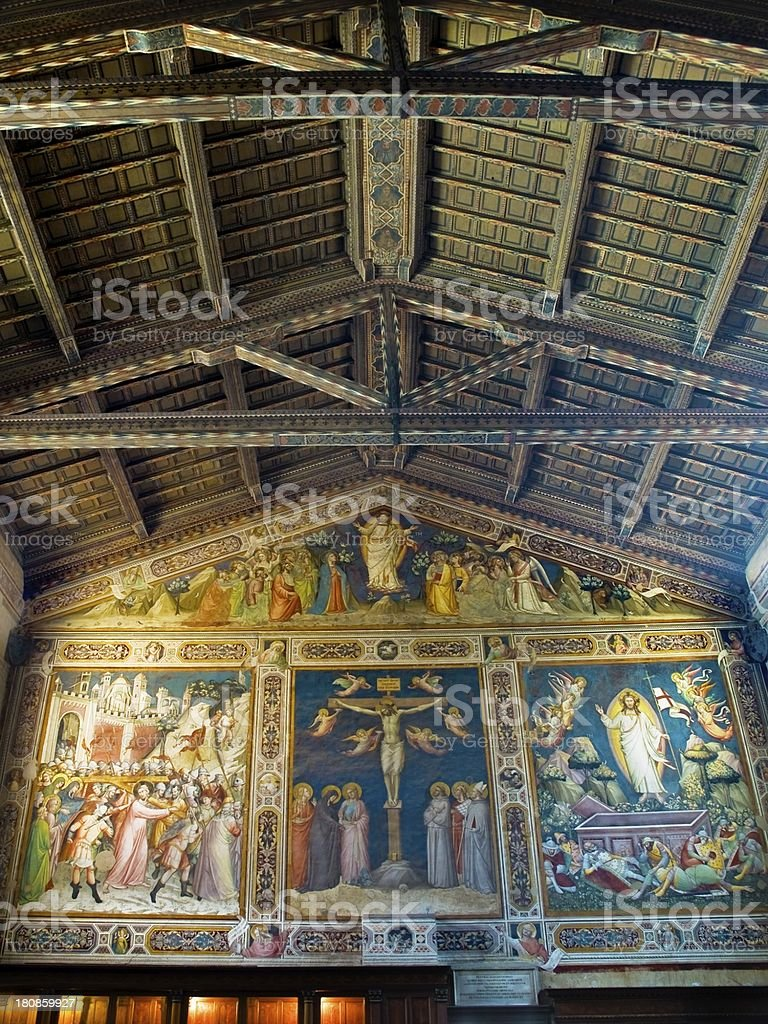 The sacristy of Basilica di Santa Croce. Florence, Italy royalty-free stock photo