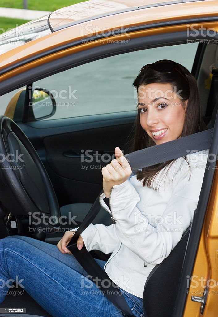 The Safety seat belt royalty-free stock photo