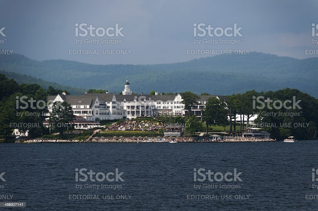 The Sagamore on Lake George stock photo