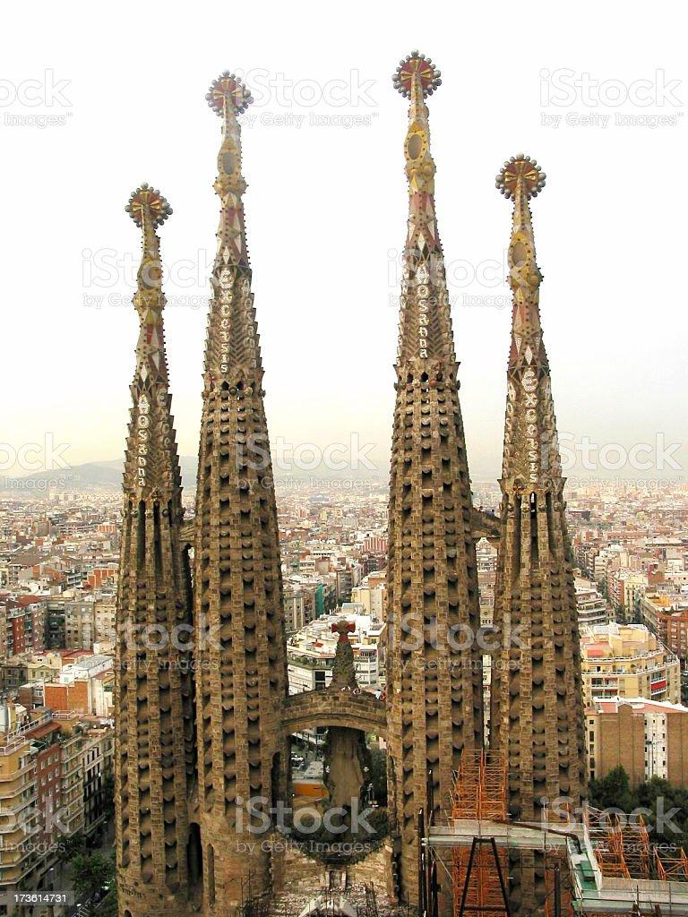 the sagrada familia in Barcelona royalty-free stock photo