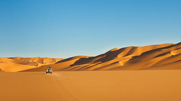 The Sahara desert that is very vast and large  stock photo