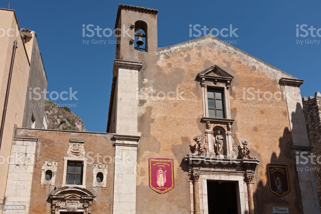 The Saint Catherine church in Taormina, Sicily, Italy photo libre de droits