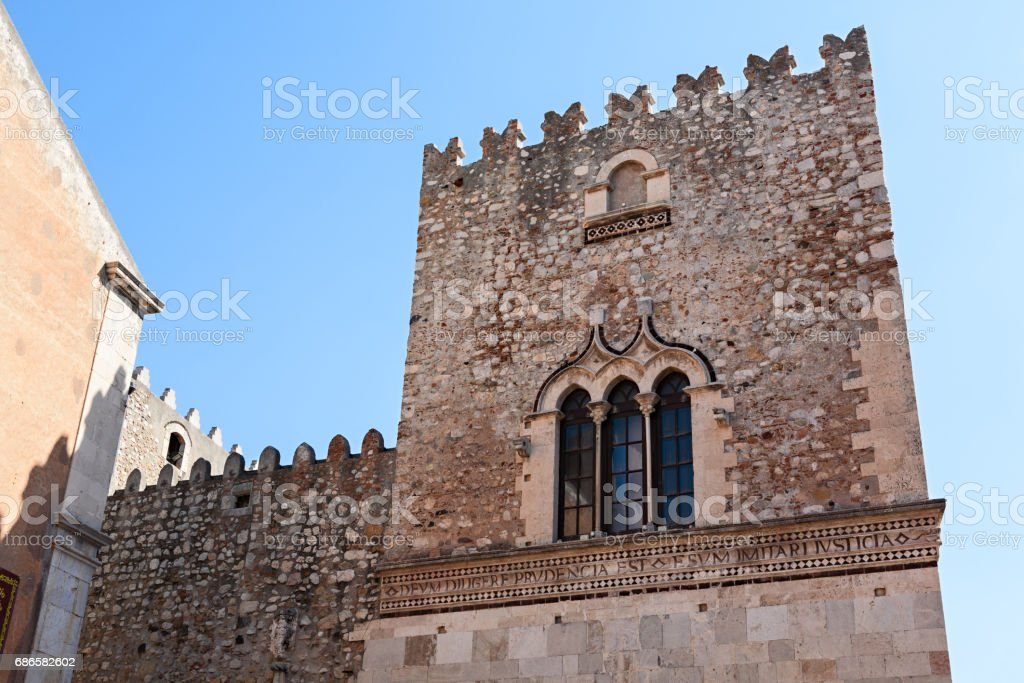 The Saint Catherine church on piazza Badia in Taormina, Sicily, Italy royalty-free stock photo
