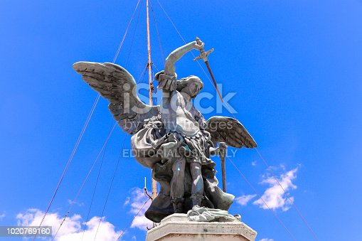 Angel with a sword in Rome Italy