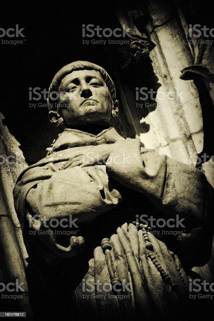 The Saintly Monk stock photo