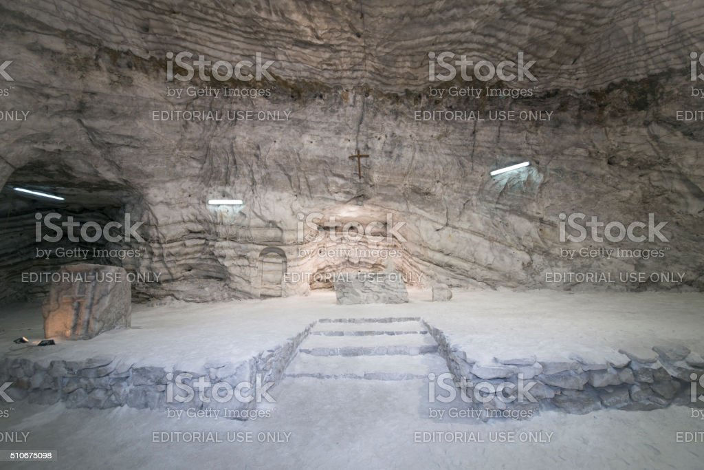 The Salt Cathedral, Realmonte (AG) in Sicily stock photo