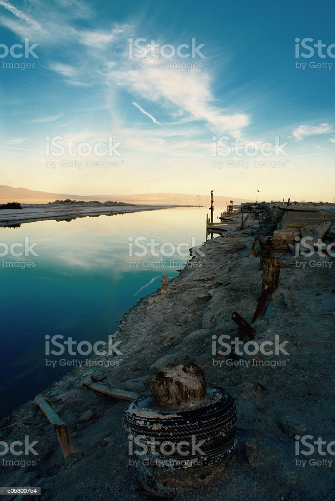 The Salton Sea stock photo